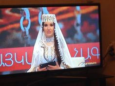 Nazeni Hovhannisyan  wears traditional  bride costume of Yerevan made by Teryan Cultural Centre