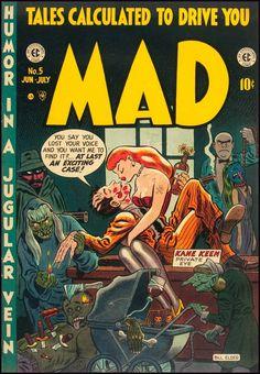 wonderful-strange:Mad #5, 1953. Cover art by Bill Elder.