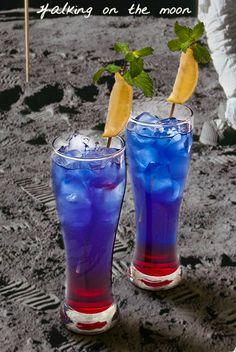 Walking on the Moon: grenadine, blue coracao, Smirnoff vodka
