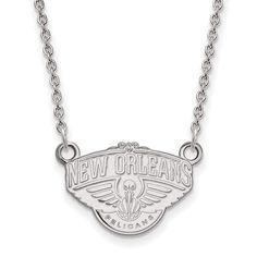 10kw NBA LogoArt New Orleans Pelicans Small Pendant w/Necklace