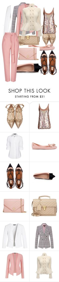 """""""Pink career"""" by shannon7058 ❤ liked on Polyvore featuring Valentino, STELLA McCARTNEY, Steffen Schraut, Melissa, Tory Burch, Yves Saint Laurent, White House Black Market, ESCADA, maurices and Alexander McQueen"""