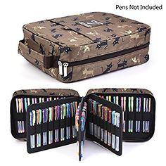 202 Colored Pencils Pencil Case / 136 color gel pens Pen Bag / Marker organizer - Universal Artist use Supply School Zippered Large Capacity slot Super big Professional Storage qianshan Coffee Cat Kids School Organization, Pretty Drawings, Gifts For An Artist, Arts And Crafts Supplies, Art Supplies, Pen And Watercolor, Copics, Knitted Bags, Animal Party