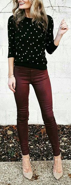 50 Herbst-Outfit-Ideen im Trend - - - Fashion Outfits Winter Outfits For Teen Girls, Winter Outfits For Work, Fall Work Clothes, Dressy Fall Outfits, Jeans Outfit For Work, Work Pants, Work Outfit Casual, Black Pants Outfit Dressy, Dress Black