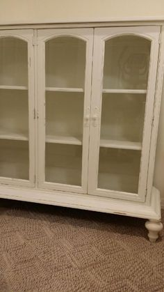 Gl Bookcase Upcycled Rustic Hutch Shabby Cottage Chic Cabinetschina