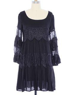 Black Baroque Dress   PLASTICLAND