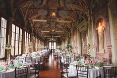 The stunning Villa Corsini a Mezzomonte. We had thought that we would like to have the wedding dinner outside, but then we saw this room . . .