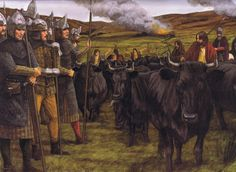 Irish Galloglasses on a cattle raid, century.Fav Medieval Pics - Page 18 - Armchair General and HistoryNet >> The Best Forums in History Irish Warrior, Renaissance, Irish Costumes, Fantasy Setting, Picts, Fantasy Inspiration, Dark Ages, Medieval Fantasy, 15th Century