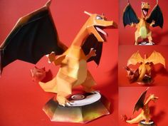 Easy Pokemon Papercraft | charizard papercraft by ~epikachu on deviantART