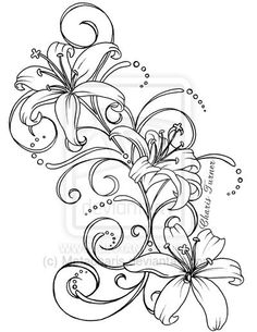 Lily Tattoo by ~Metacharis on deviantART - Tattoo Pins Lily Tattoo Design, Tattoo Design Drawings, Flower Tattoo Designs, Tattoo Sketches, Back Tattoos, Body Art Tattoos, Tatoos, Symbol Tattoos, Tattoos Skull
