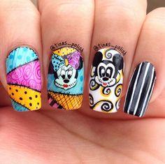 Holloween Mickey and Minney nail art designs 2019 nail designs for short nails 2019 full nail stickers nail art stickers at home nail art strips Short Nail Designs, Nail Art Designs, Nails Design, Cute Nail Art, Cute Nails, Disney Halloween Nails, Hair And Nails, My Nails, Lexi Nails