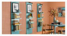 Build this stylish shelf without cutting a single board! It has built-in lights to showcase artwork or collectibles. The four shelves hold stacks of books.