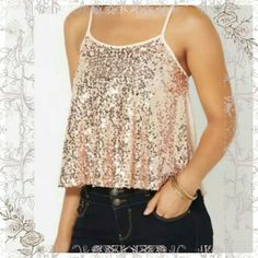 🆕✨2XHPXBLUSH ROSE SEQUIN SWING TANK ADORABLE  TANK STYLE TOP. BLUSH  COLORED, PERFECT  FOR SPECIAL OCCASIONS  OR GOING OUT, ALSO GREAT  TO LAYER OR WEAR ALONE,  THIS TOP FEATURES  A MESH FRONT STUDDED WITH SEQUINS & A SOFT CHIFFON  BACK.  NOT A TIGHT FITTED TOP, DOES DRAPE BEAUTIFUL,  HAS A LITTLE  FLOUNCE  TO IT.  100 % POLY  ✨HP✨BEST IN TOPS 1/18/16  ❤SPECIAL THANKS  @beautyshineson &  ✨HP DOWNTOWN ROMANTIC 4/26/16✨❤ A VERY SPECIAL THANKS TO @queenmumm Check out these beautiful closets ❤…