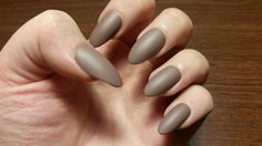 Dark Nude Nails by NailsByCaitlyn on Etsy