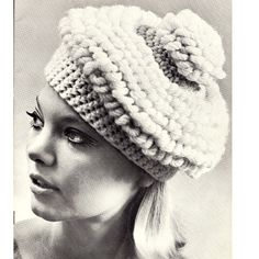 Crochet Beret Hat Pattern.    A cute Beret, slouchy enough, with just the right size Pom Pon on the top.