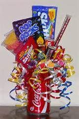 Orange soda bouquet   Candy bouquets