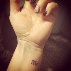 Pin for Later: 100 Real-Girl Tiny Tattoo Ideas For Your First Ink Scorpio Symbol