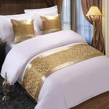 RAYUAN Golden Floral Bedspreads Bed Runner Throw Bedding Single Queen King Bed Cover Towel Home Hotel Decorations Bed Cover Design, Bed Design, Draps Design, Dream Catcher Bedding, King Bed Covers, Designer Bed Sheets, Floral Bedspread, Bed Scarf, Boho Home