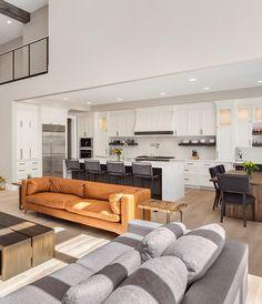 Kitchen Open Concept, Kitchen Design Open, Kitchen Designs, Open Plan Kitchen Living Room, Small Living Rooms, Dr Kitchen, Kitchen Ideas, Country Kitchen, Kitchen Island