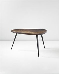 Free-form coffee table, manufacturer by Les Atelier Jean Prouvé, France and editioned by Steph Simon, France. Designed by Charlotte Perriand and Jean Prouvé, Charlotte Perriand, Wood Furniture, Modern Furniture, Furniture Design, Furniture Inspiration, Interior Inspiration, Interior Desing, Mid Century Design, Home Accessories