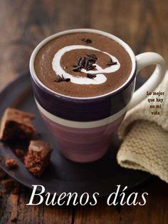 Buenos Días imagen #10113 - Buenos días Tags: Cafe, Chocolate, Feliz, Manana. Imágenes y fotos de 'Buenos Días' con frases para facebook, whatsapp y twitter.