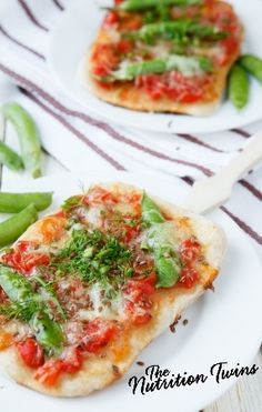 Easy Veggie Pita Pizza | Delicious Way to Get Veggies | Simple, Healthy Meal | For MORE RECIPES, fitness & nutrition tips please SIGN UP for our FREE NEWSLETTER www.NutritionTwins.com