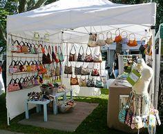 Handbag display for a craft booth