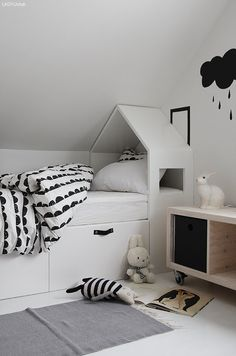Modern black and white kid's room, Monochrome kid's room inspiration