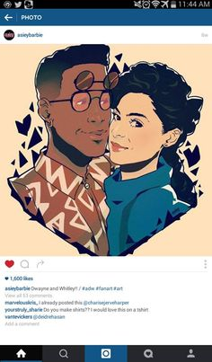 Dwayne Wayne and Whitley Gilbert artwork #ADifferentWorld