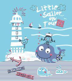 Sea wind embroideries | Kidsfashionvector | cute vector art for kids clothes