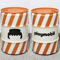 Playmobil #playmobil #drum #oildrum #industrialdesign #barril #rebecaguerra #lata #decoração
