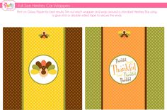 Free Thanksgiving printable candy bar wrappers #thanksgiving #candy #favors
