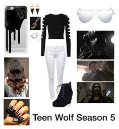 """Teen Wolf Season 5"" by teenwolf-theoreaken ❤ liked on Polyvore featuring J Brand, Cushnie Et Ochs, Casetify, Victoria Beckham, Wolf & Moon and TeenWolf"