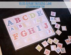 Cute and Easy DIY Velcro Alphabet Matching Game via littleredwindow.com