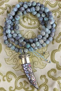 Awaken the Soul Necklace with African Turquoise