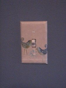 light switch covers with scrapbook paper