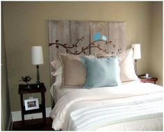 Diy headboard ideas with shelves full size of wood pallet headboard with lights ideas charming home . diy headboard ideas with shelves Cool Headboards, Headboard Ideas, Bedroom Headboards, Headboard Art, Painted Headboards, Country Headboard, Headboard Designs, Homemade Headboards, Mantel Headboard