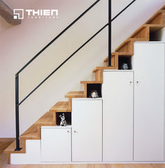 I like the idea of adding shelves and cabinets underneath your stairs. – Chee SB, I like the idea of adding shelves and cabinets underneath your stairs. Staircase Storage, Staircase Design, Storage Under Stairs, Stair Shelves, Display Shelves, Under Stairs Storage Solutions, Stair Lighting, Lighting Ideas, Interior Stairs