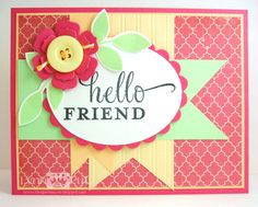 CTD207/MOJO256 - Hello Friend by justbehappy - Cards and Paper Crafts at Splitcoaststampers