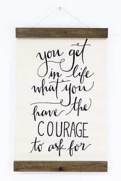 Courage Wall Hanging