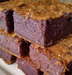 Purple Yam Sweet Rice Cake Low-fat and oh, so addicting!