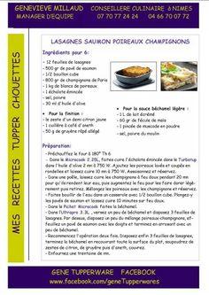 Tupperware - Ultra Pro - Lasagnes poireaux champignons