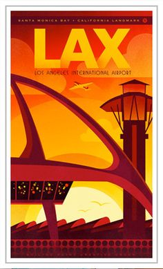 LAX Los Angeles International Airport by BoilingPointCreative, $24.50