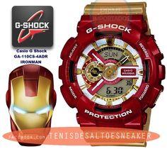 fd69186ca66 Relógio Casio G Shock GA-110CS-4ADR IRONMAN Importado Relogio Mecanico