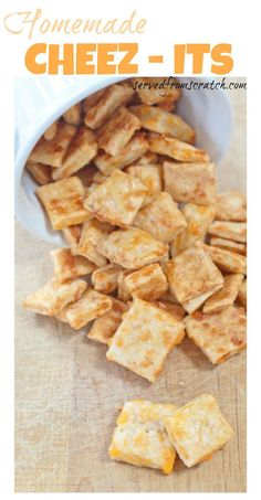 Make your favorite salty, cheesy, crunchy snack cracker at HOME with only a few ingredients!