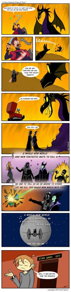 I have seen none of the Star Wars movies, but I can tell you ^this is much better than Maleficient