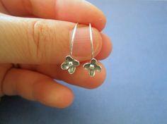 Handmade Silver Earrings Forget Me Not modern by maryandjane