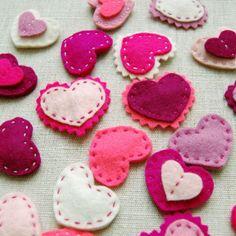 Des cœurs en feutrine - Marie Claire Idées