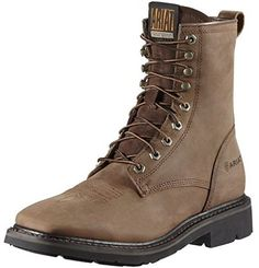 """Ariat Mens Cascade 8"""" Wide Square Toe Boot * Check this awesome product by going to the link at the image."""