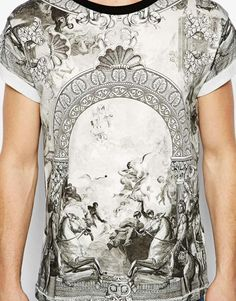 River Island - T-shirt con stampa