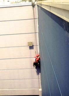 Caulking & Sealing via Rope Access #Abseiling #RopeAccess #WorkAtHeights #HeightSafety #RopeAccessTechnician #AbseilersUnited #Caulking #Sealing